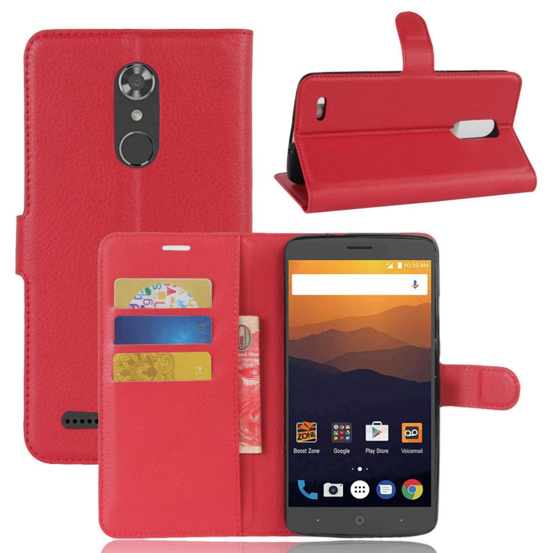 Kulit Lipat Sarung Dompet Pemegang Kartu Case untuk ZTE Maksimum XL N9560/Z986-Internasional