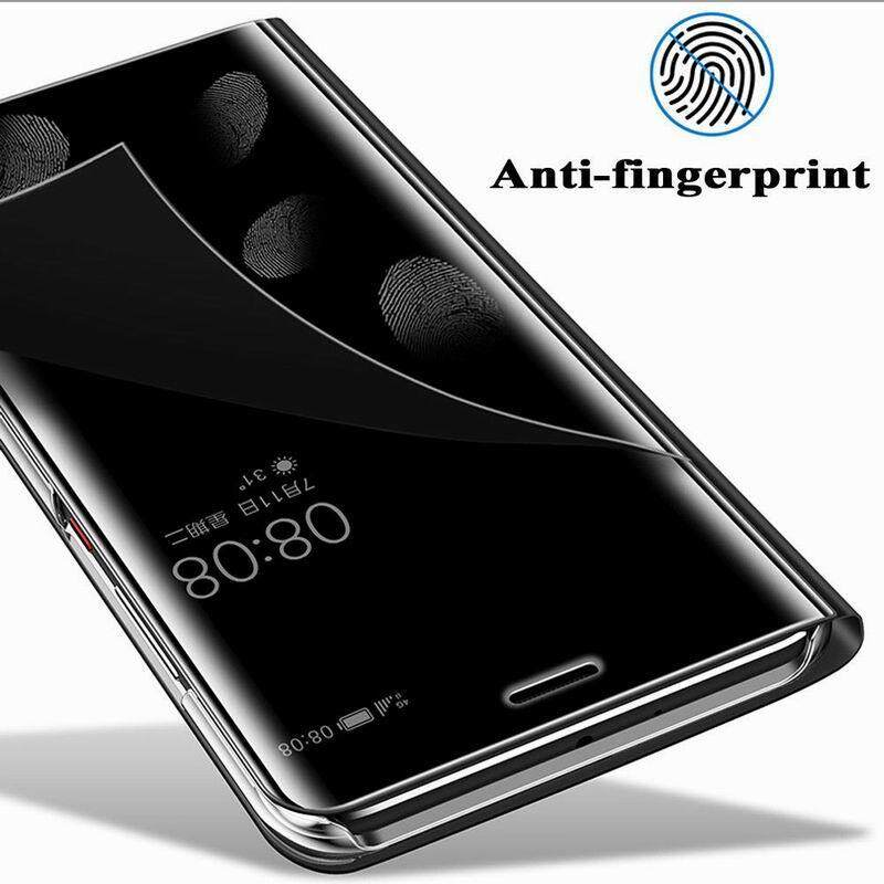 ... Luxury Mirror Clear View Smart Flip Cover Case For OPPO F7 - 5