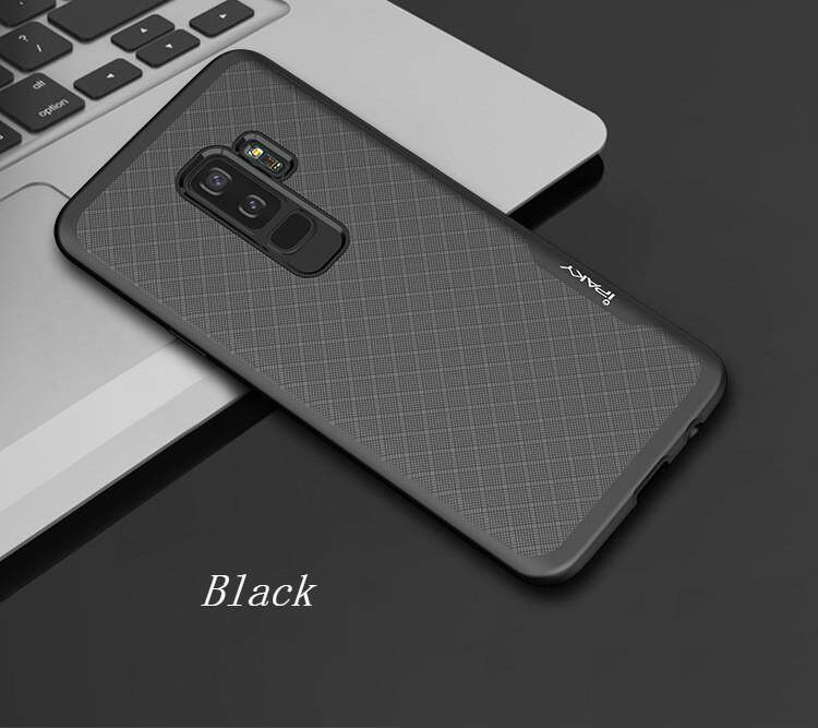 Ipaky Galaxy S9 Casing Ponsel, mewah Plating Penutup Pelindung Anti-Drop PC + Tpu