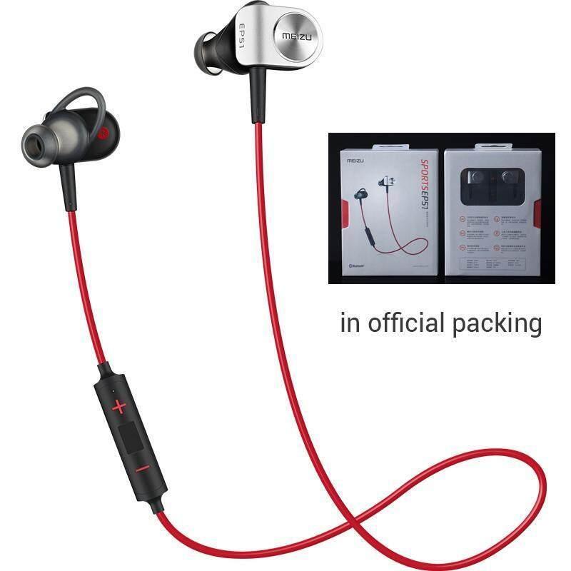 Asli Meizu EP51 Nirkabel Bluetooth Earphone Stereo Headset Tahan Air Olahraga Earphone dengan Mikrofon Mikrofon Mendukung