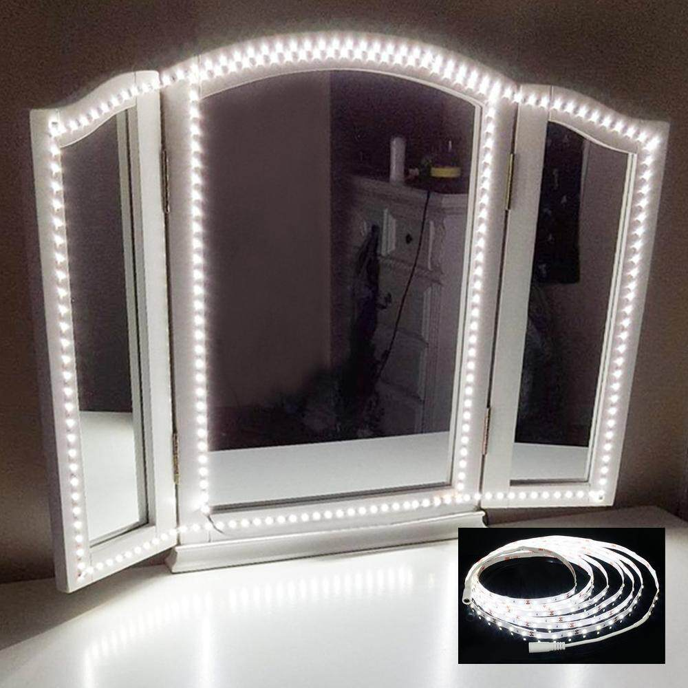 Kobwa US PLUG Led VUS PLUG Led Vanity Mirror Lights Kit 13ft/4M 240 LEDs Makeup Vanity Mirror Light For Vanity Makeup Table Set With Dimmer - intl Philippines