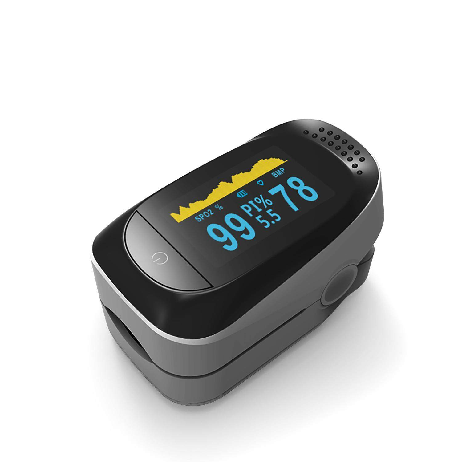 niceEshop Portable Finger Pulse Oximeter With 4 Measurement Data Display