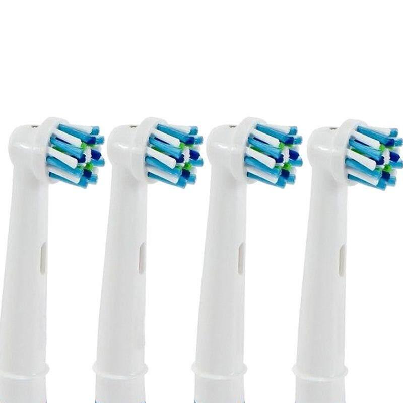 แปรงสีฟันไฟฟ้าเพื่อรอยยิ้มขาวสดใส มุกดาหาร Denshine 4 ชิ้นแปรงสีฟันไฟฟ้าหัวเปลี่ยนสำหรับ CROSS Action   INTL