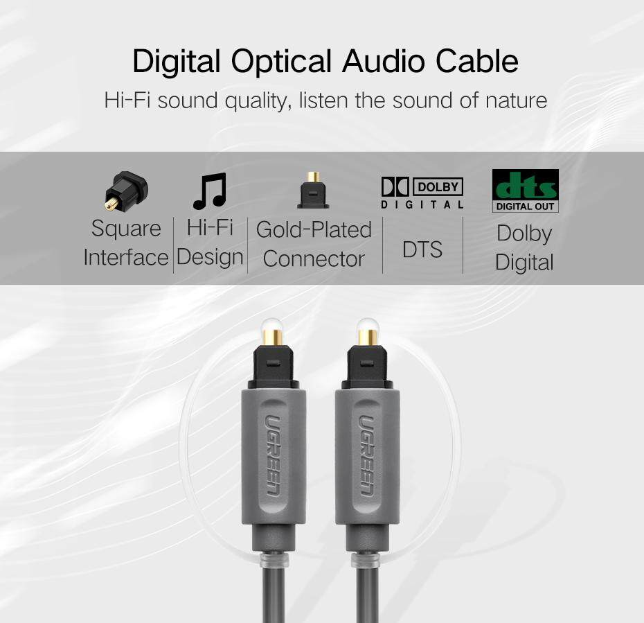 UGREEN Digital Optical Audio Cable Toslink SPDIF Coaxial Cable (1m ...