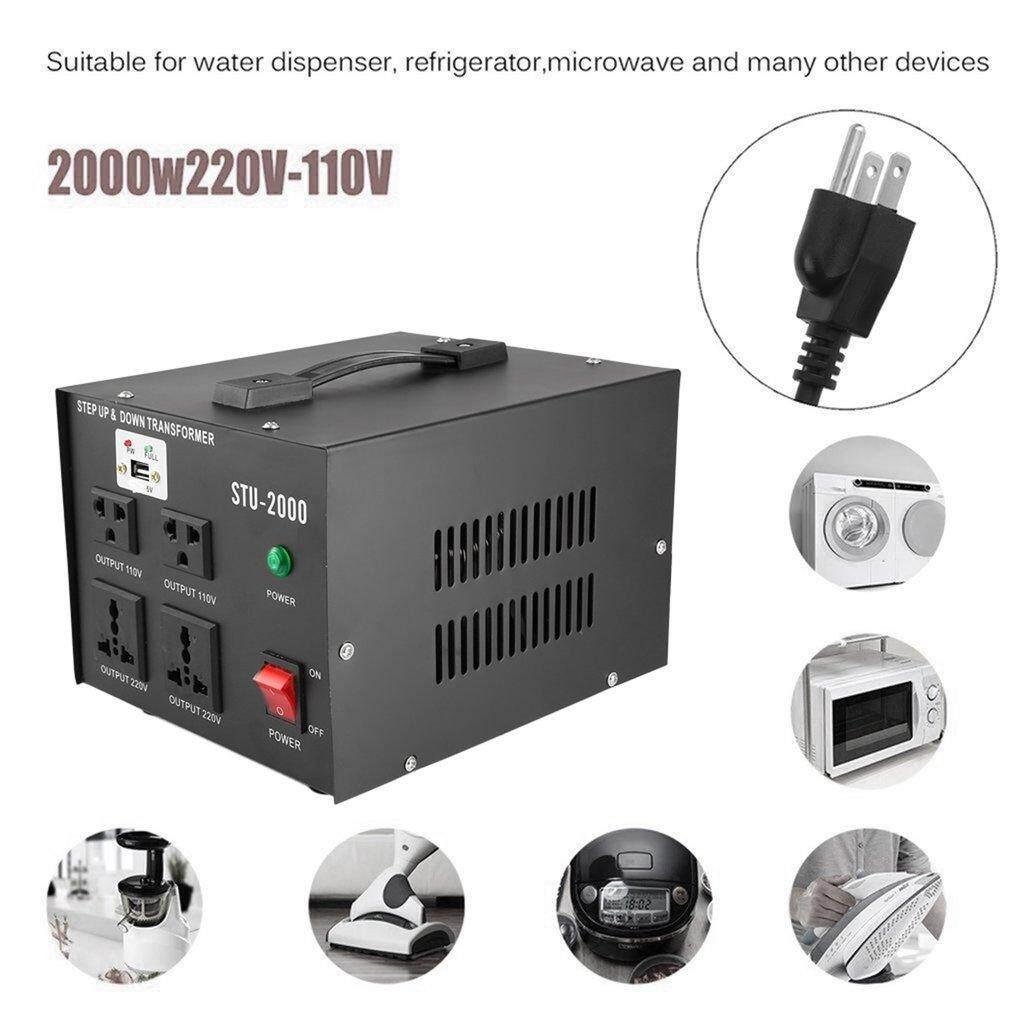 Sale Osman 2000W 110V Electrical Power Voltage Converter With Usb Transformer Black Us Plug China Cheap