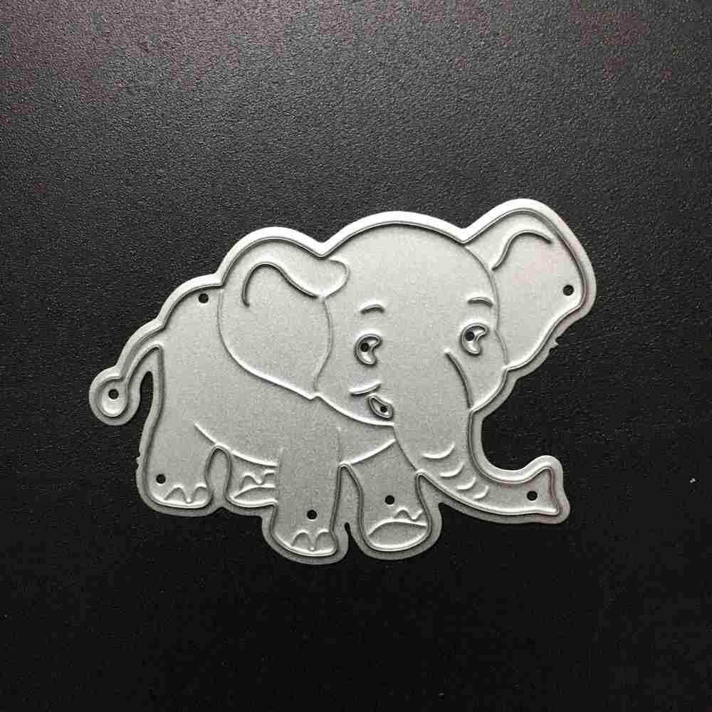 Cetakan Timbul Digunakan untuk Diy Scrapbooking Album Kertas Kartu dengan Bentuk Gajah Baja Karbon Cetakan Potongan Stensil