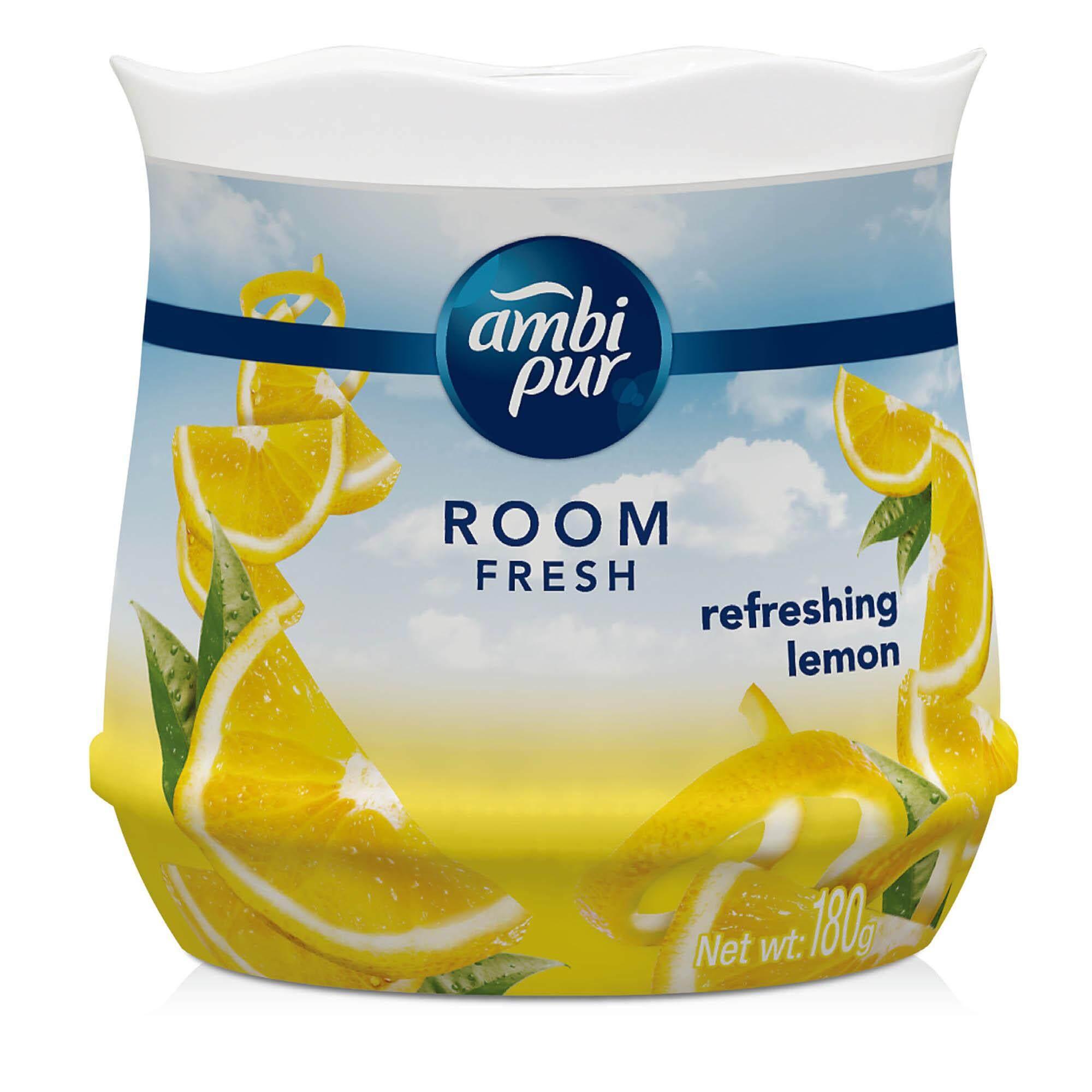 Ambi Pur Room Fresh Gel Fresh Air Refreshing Gel Refreshing Lemon 180G