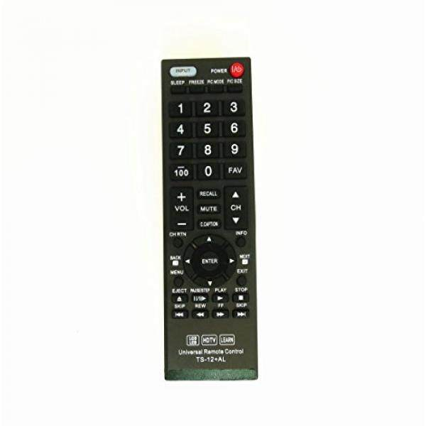 Gvirtue Universal Remote Control Compatible Replacement for Toshiba TV/ HDTV/ LCD/ LED, CT-90325 CT-90326 CT-90329 CT-8037 CT-90302 CT-90275 CT-90 CT-90366 - intl
