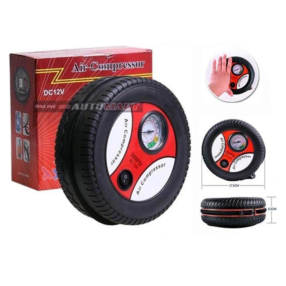 Portable Auto Car Pump Tire Tyre Mini Air Compressor 260 PSI DC 12V