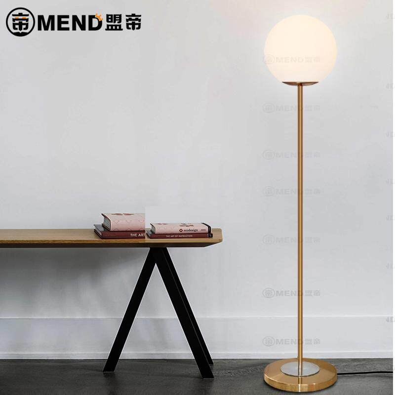 Modern Minimalist Glass Ball Upright Floor Lamp Nordic Personality Bedroom Bedside Living Room Sofa Ball Floor Lamp - intl