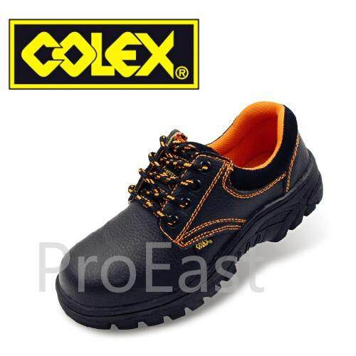 Colex Zz200 Uk 10 Steel Toe Cap Mid Sole Low Cut Safety Shoes / Kasut Inustrial 10 (black) By Proeast.
