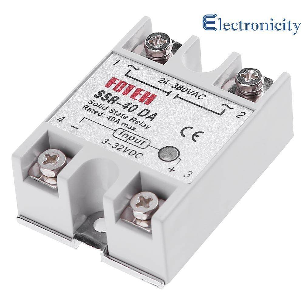 Fitur Baru 1 Pcs Solid State Relay Ssr 40 Aa Ac 40a 250 V 80 For Dc Single Phase 3 32v To 24 380vac 40da