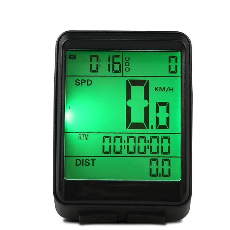 จักรยาน Speedometer จักรยานจักรยานกันน้ำความแม่นยำสูงจอแสดงผลความละเอียดสูงเรืองแสงตอนกลางคืนคอมพิวเตอร์วัดระยะทาง Mtb นาฬิกาจับเวลาจักรยานแบบมีสาย/ไร้สาย 2 ประเภทข้อมูลจำเพาะ: ภาษาอังกฤษเคสโทรศัพท์สีดำแบบมีสาย.