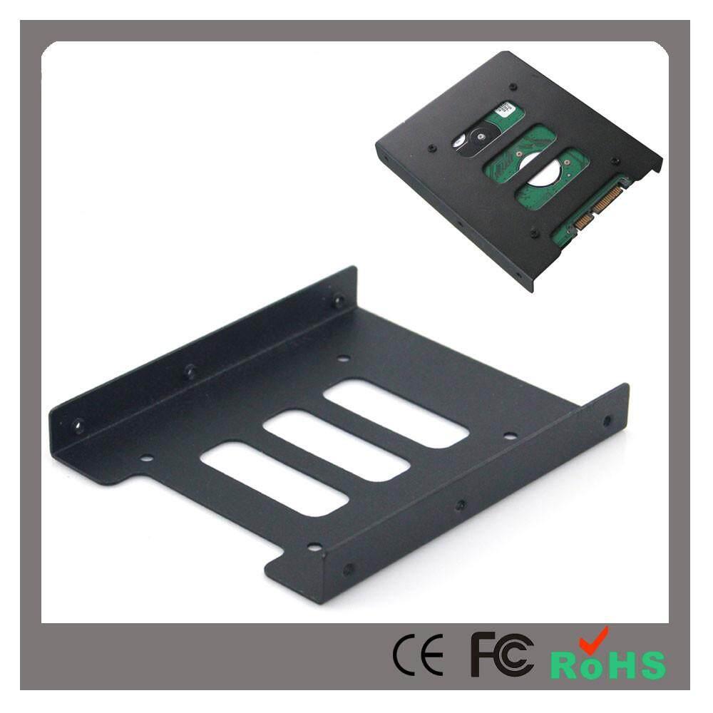 2.5 untuk 3.5 Inch SSD untuk Komputer HDD Adaptor Logam Braket Pemasangan Penyangga Perangkat Keras-Internasional