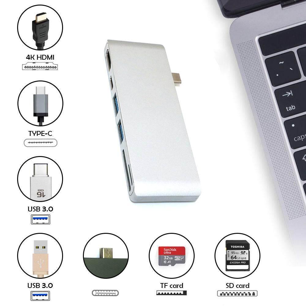leegoal Type-s Through,HDMI 4K,USB-C,SD/Micro SD ChargingcBook MacBook Pro Samsung Huawei Dell Lenovo