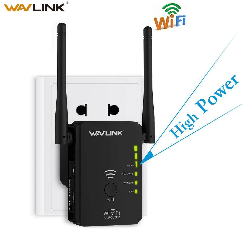 ZZOOI Wavlink High Power Wireless Wifi Repeater Router Access Point Ap N300 Wifi Range Extender Wps Button With 2 External Antennas Eu