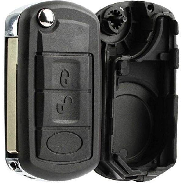 Keylessoption Tanpa Kunci Masuk Jarak Jauh Kunci Fob Shell Casing Tombol Alas Kunci Lipat Sarung Perumahan untuk Land Rover-Internasional