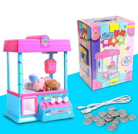 USB Mini Kids Grasping Doll Music Machine Catch Ball Machine Coin Game [2 colors available] toys education