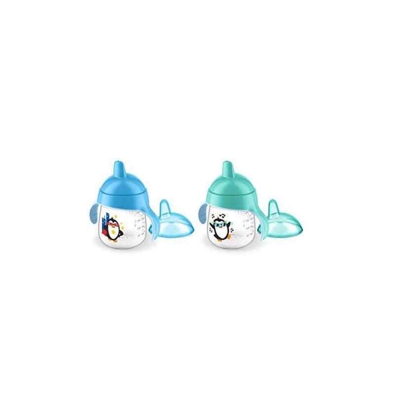 Gambar Product Lengkap Philips Avent My Penguin Sippy Cup 9oz teal/Blue twin pack SCF753/25 Terbaru