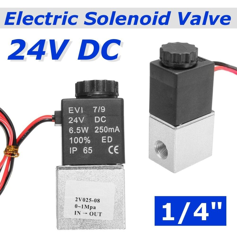 1/4 24V NPT Electric Solenoid Valve 2 Way Normally Closed Air Water Oil Fast
