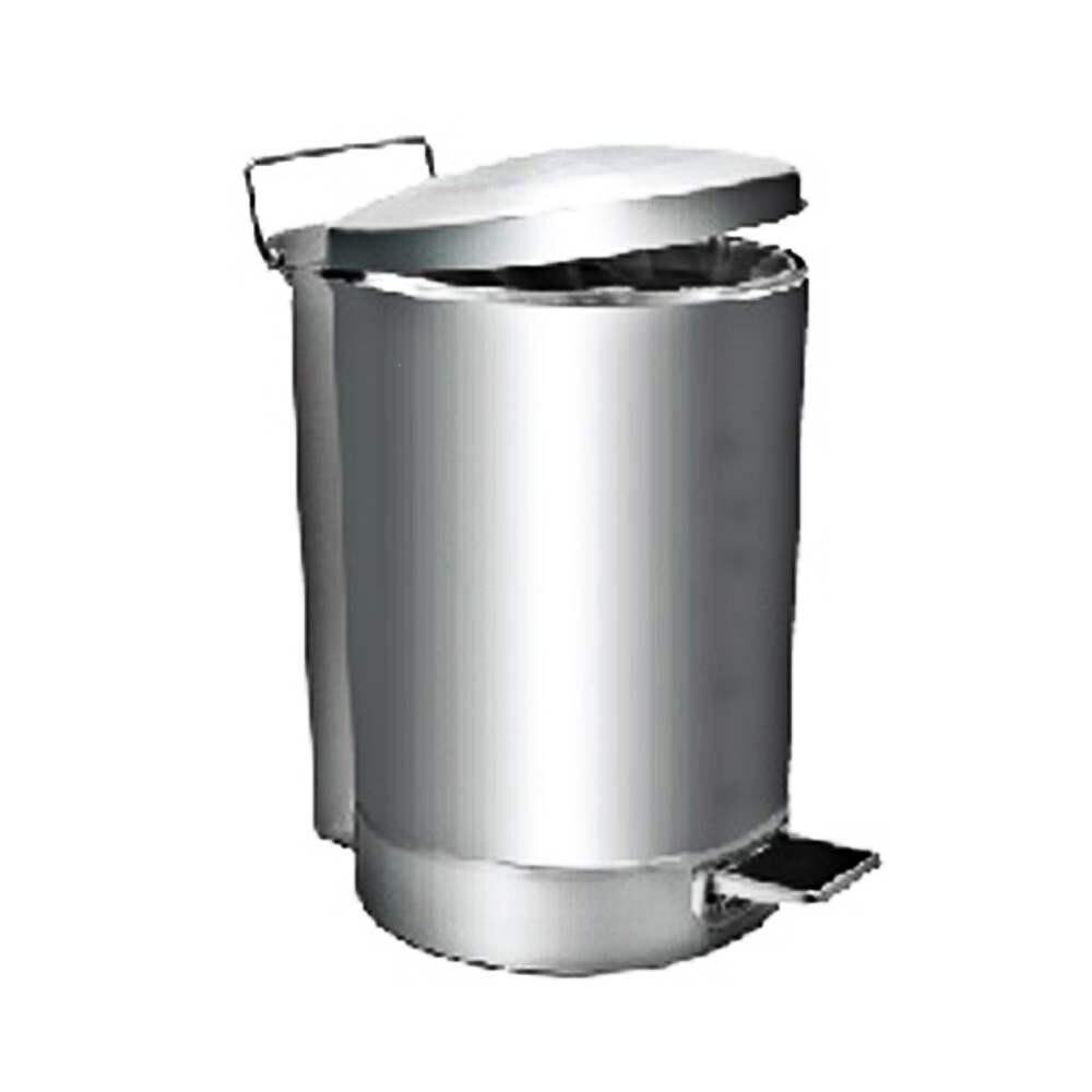 Rivershop 43Litres Multi-Purpose Stainless Steel Round Pedal Step Wastebin Dustbin Rubbish Trash RPD-081/SS for Office / Restaurant / Commercial Tong Sampah Serbaguna