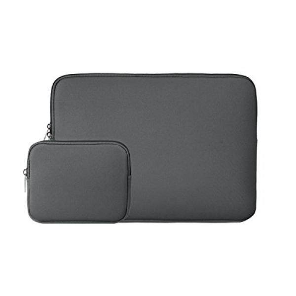RAINYEAR 14 Inch Laptop Sleeve Slim Computer Case Padded Sleeve Carrying Bag With Small Case for Charger or Mouse, for 14 Notebook Ultrabook Chromebook Of Dell/HP/ThinkPad/Lenovo/Asus/Acer(Gray) - intl