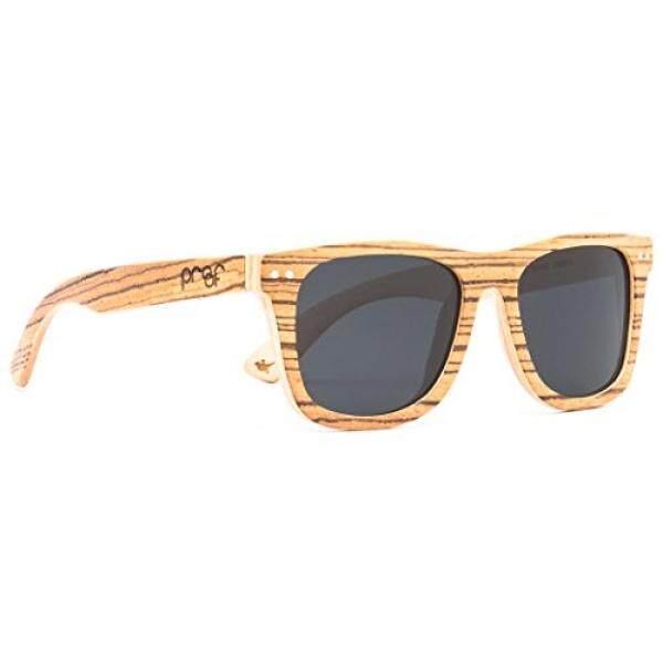 Proof Ontario Wood - Classic Handcrafted Wooden Sunglasses, Zebra - intl