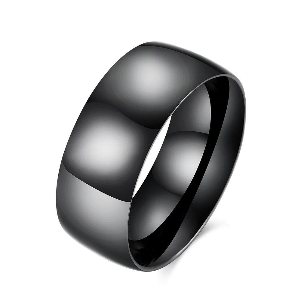 Kemstone Simple Titanium Steel Rings Black Men Rings For Party By Kemstone Jewelry.