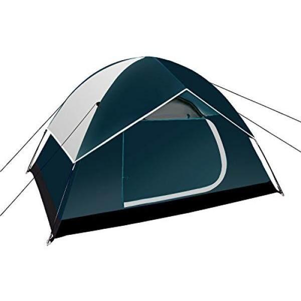 Neewer Backpacking Tenda Luar Ruangan Tenda Olahraga-Kompak Ringan 2 Sampai 3 Orang Perhatian-Hingga Shelter untuk Kemah Daki Gunung pantai Park Gunung Daerah dengan Tas Berritsleting, 83X59X47 Inci (Gelap Biru/Abu-abu)-Internasional