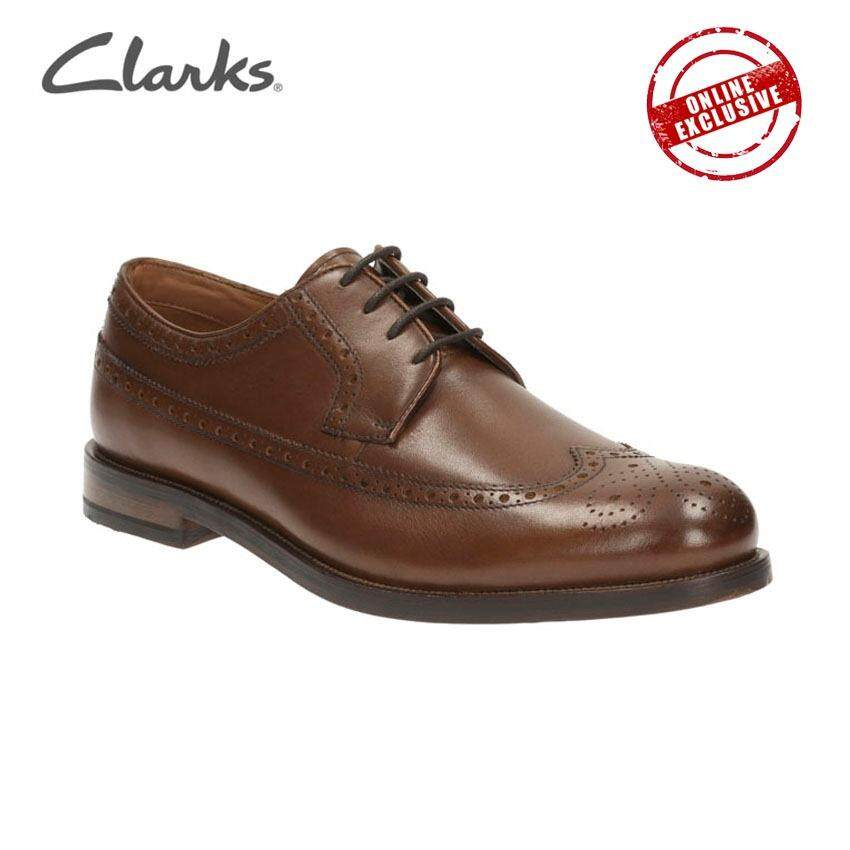 Clarks Coling Limit Mens Formal Brogues Shoes Tan Leather