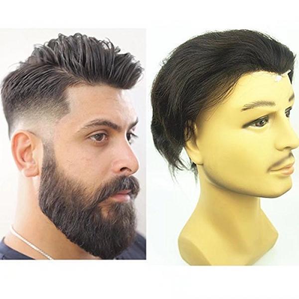 PU Kulit Toupee untuk Pria, N.l.w. Rambut Manusia Eropa Buah untuk Pria dengan 10X8 Pu