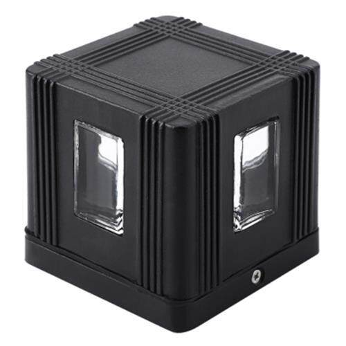 OUTDOOR AC 85 - 265V 3W 300LM SQUARE LED WALL LAMP (BLACK)