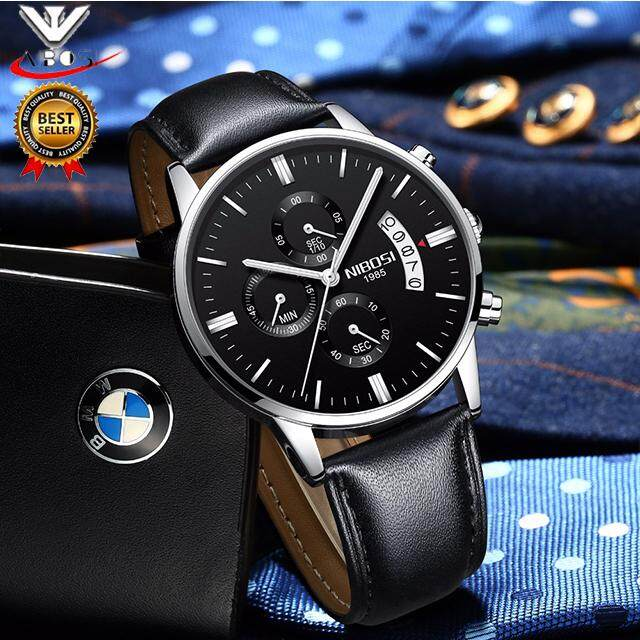 Pusat Jual Beli 2018 New Nibosi Men S Business Casual Watch Men Luxury Brand Quartz Military Sport Watch Leather Band Men Wristwatches Relogio Masculino 2309 Tiongkok