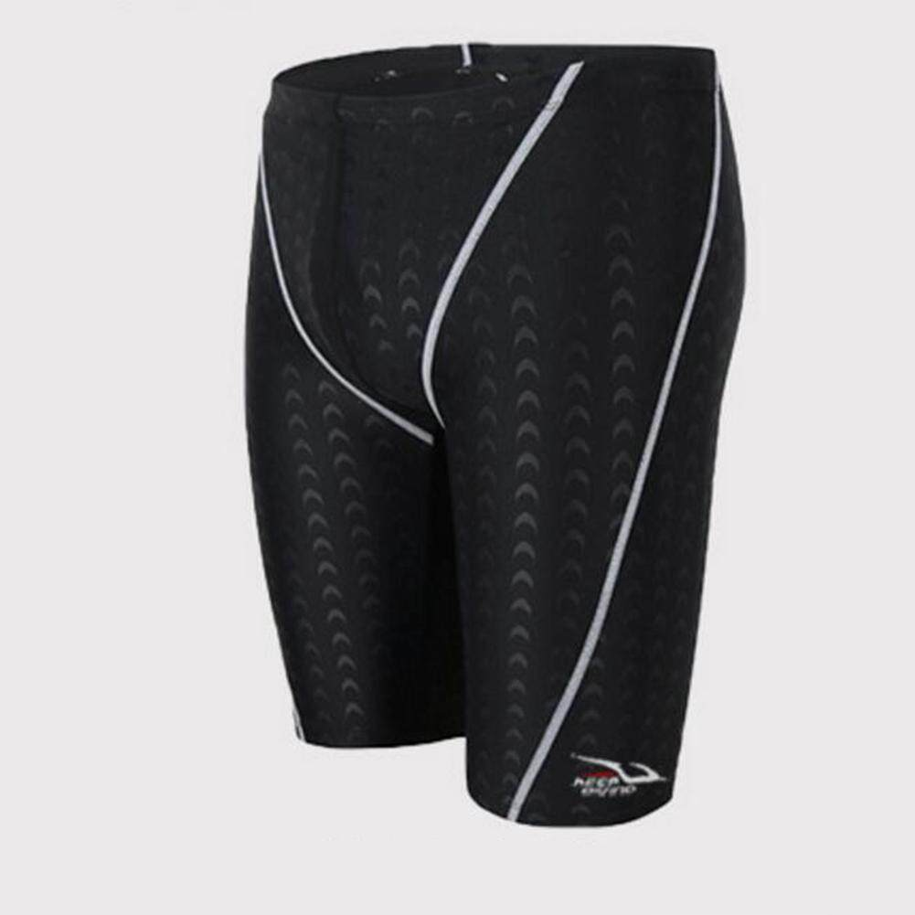 87987b7502b Redcolourful Male Professional Breathable Swim Boxer Half Pants Swimming  Trunks Comfortable Hot Spring Swim Wear Diving