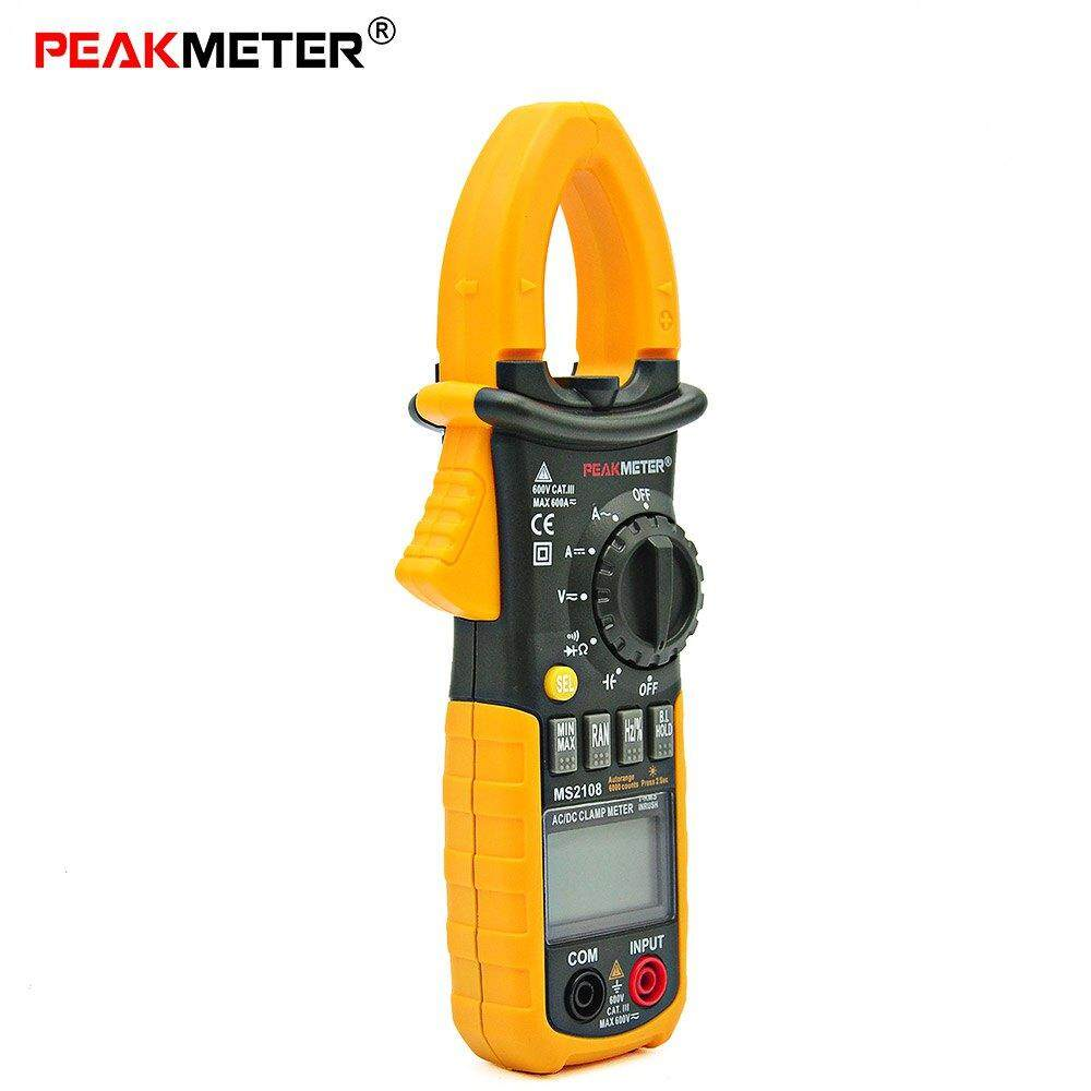 MS2108 MULTIFUNCTIONAL DIGITAL CLAMP MULTIMETER INRUSH CURRENT RESISTANCE CAPACITY FREQUENCY