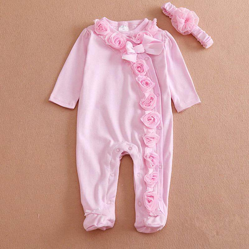 a71b82464c8d 0-9Months Baby Girl Body Suits Baby Romper Clothes Set Cotton Newborn Girls  Toddler Infant
