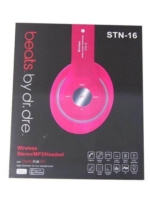 Bluetooth Stereo MP3 Headset BLUSH PINK