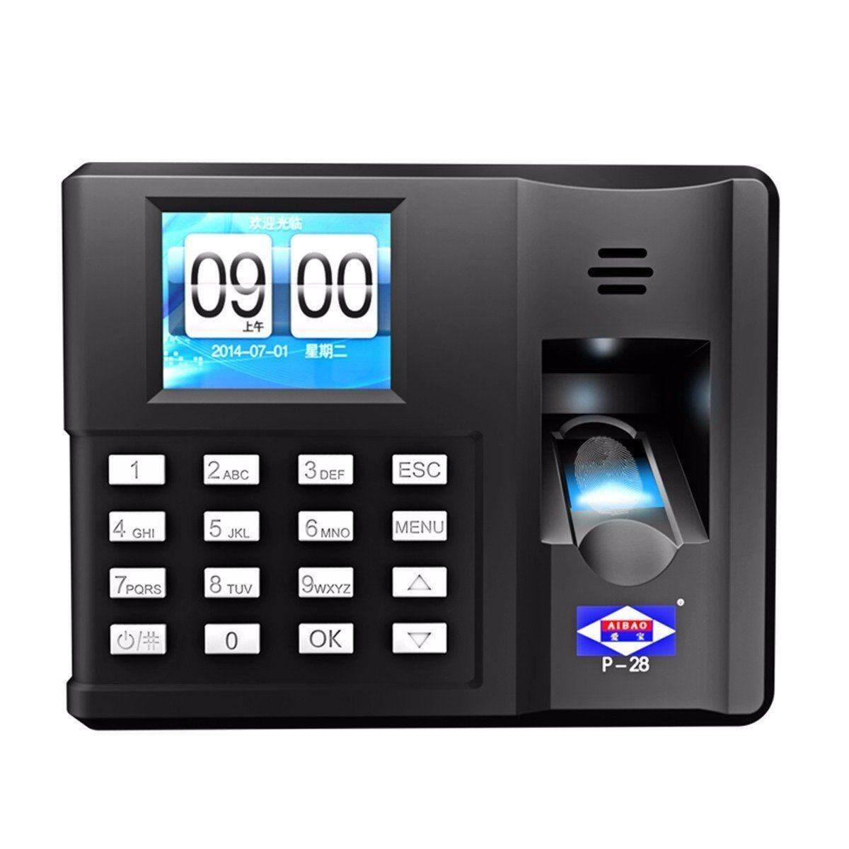 Colour Display ( 15 years warranty ) Fingerprint Time Attendance Clock Recorder
