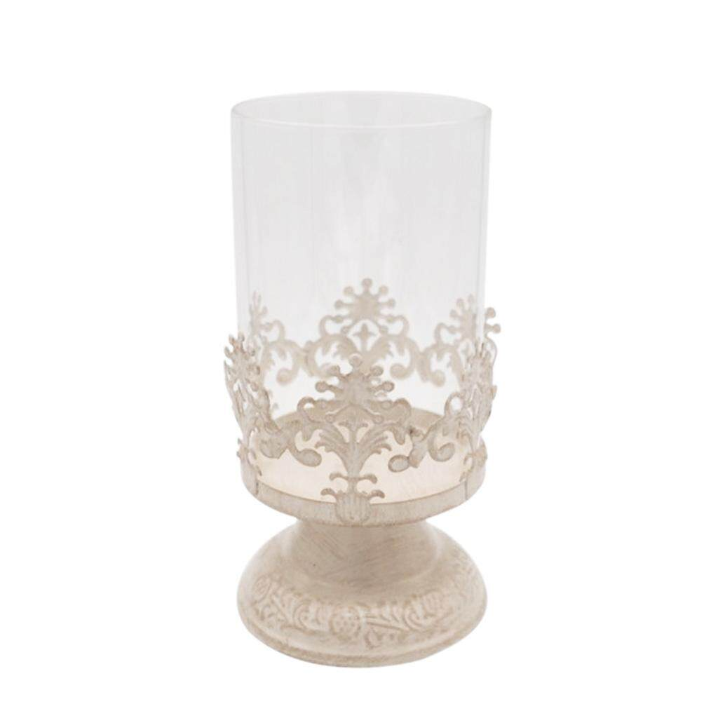 BolehDeals Pillar Candle Holder with Glass Dome for Hoem Wedding Decor S - intl