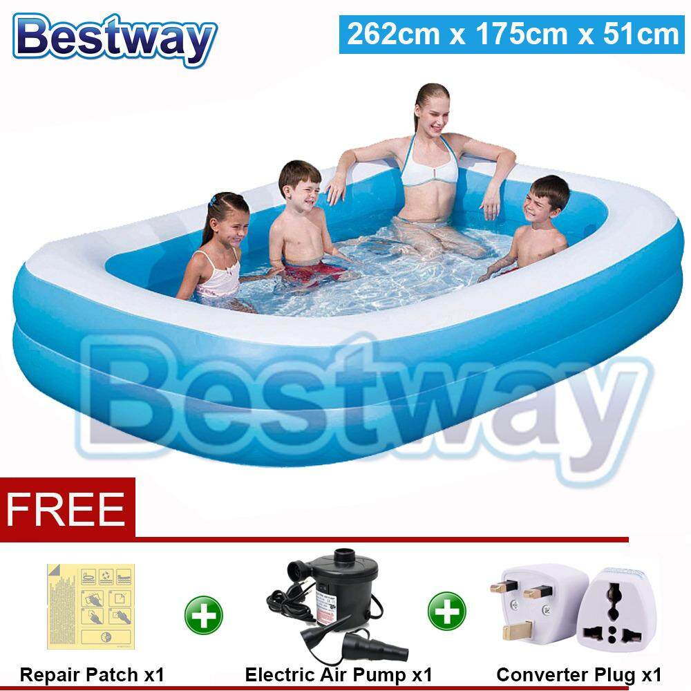 Bestway 262 Meter 54006 Extra Large Inflatable Swimming Pools 2 Layers Bc120