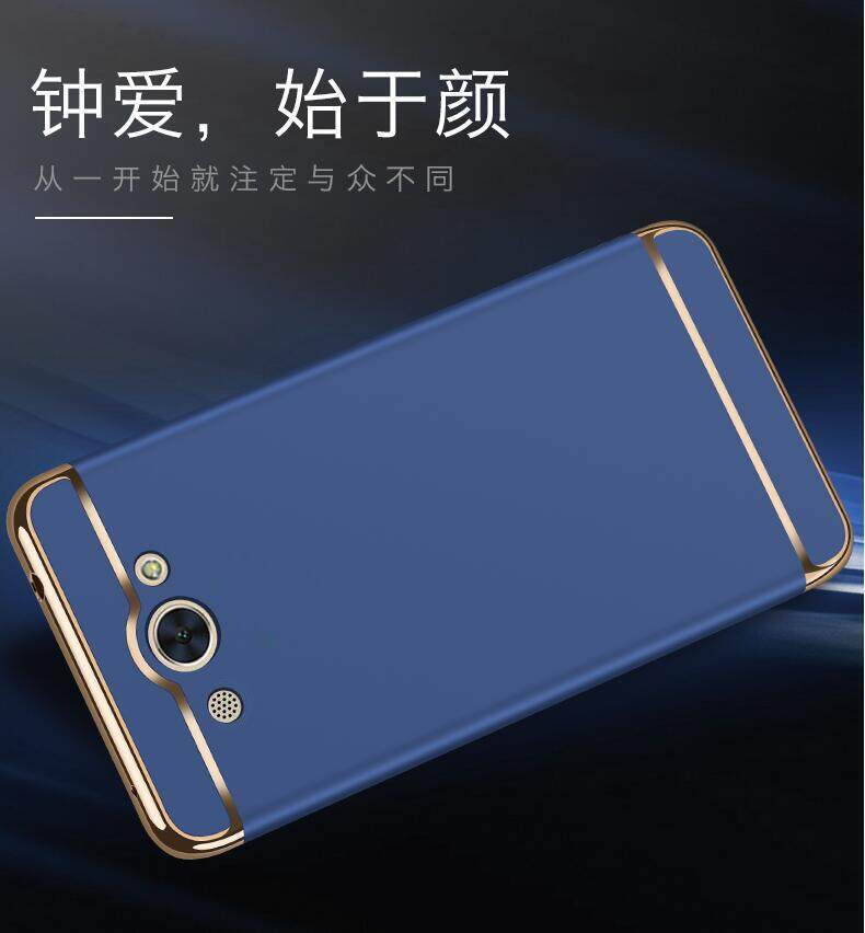 ... Huawei Y3 2017 Mewah Menyepuh Dgn Listrik Shockproof Kembali Casing Kover untuk Huawei Y3 Case Keras