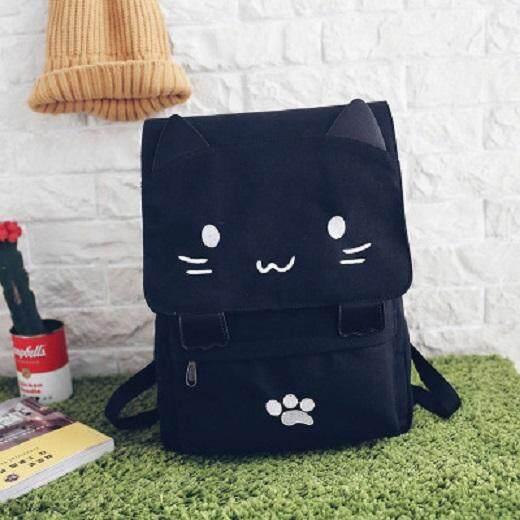 [PRE-ORDER] Japan Harajuku Kitty Cat Canvas Backpack Female Student Bag