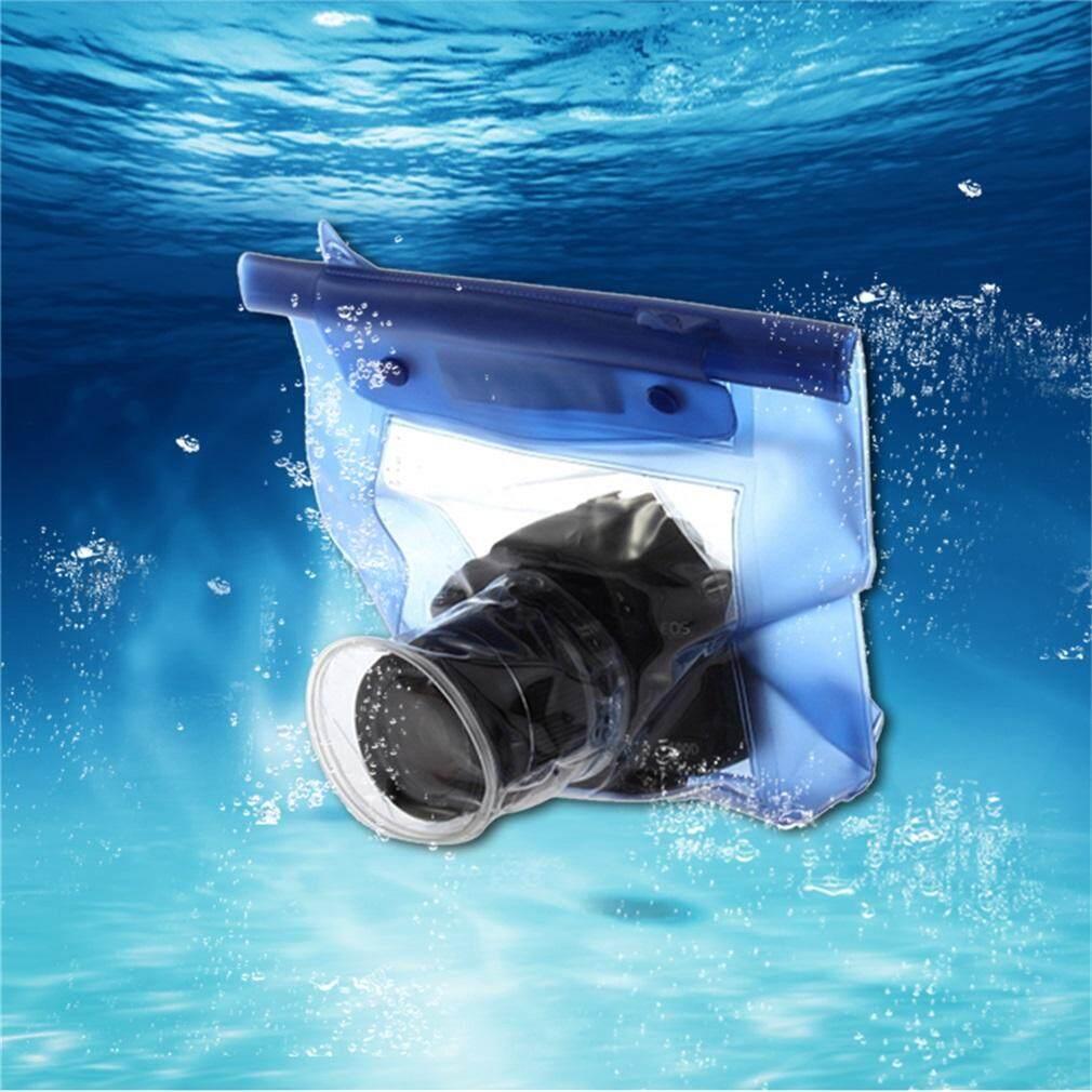 Elec Rumah Bawah Air Tahan Air Kamera Tas Kering untuk Canon 5D/7D/450D/60D Biru Tua