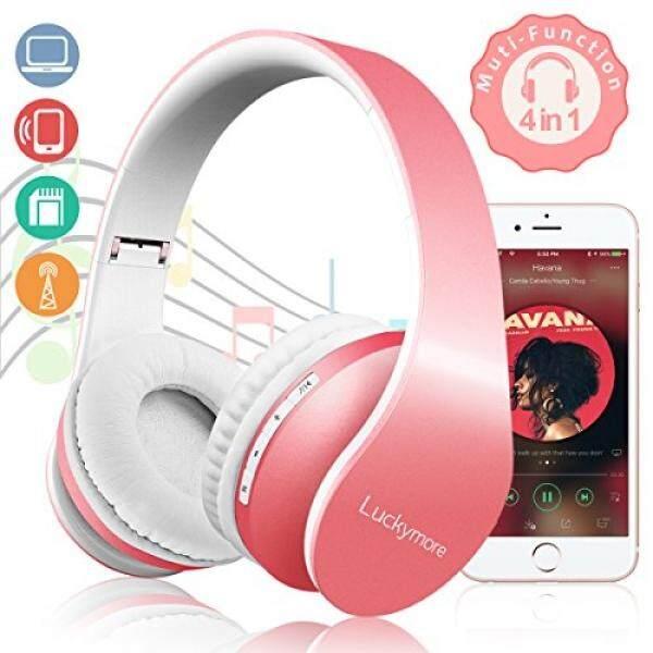 ALH Nirkabel Headphone Bluetooth Diatas Telinga, headset Di Telinga Stereo Earphone Dibangun Di-Dalam Mikrofon Lipat Headphone Ringan untuk Perempuan Wanita Anak-anak Berkabel/Nirkabel Mode untuk Televisi iPhone Android Ponsel Laptop Buah-Internasional