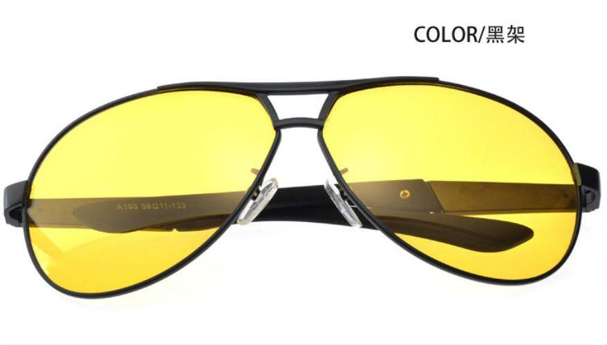 Brand designer Night Vision POLARIZED Men Sunglasses Driving Mirror Sun glasses with box alloy Frame Vintage ...