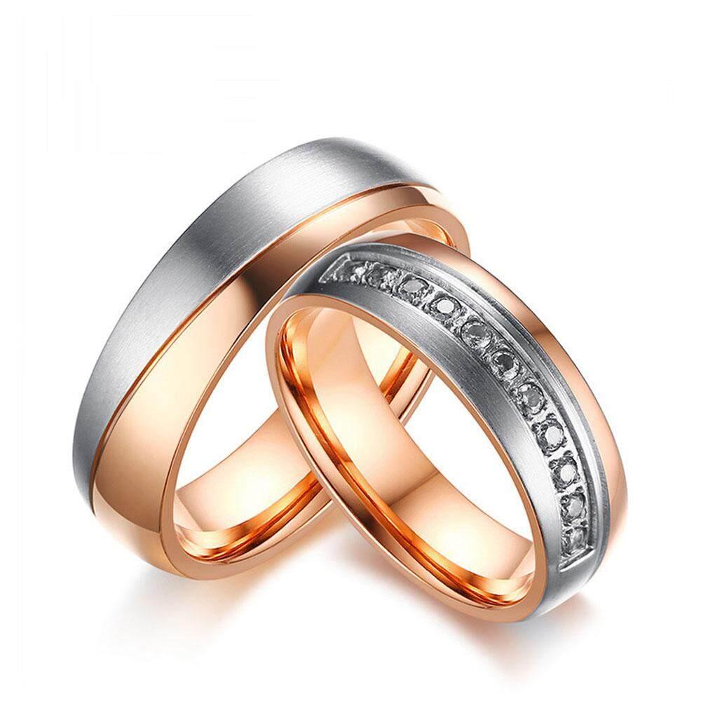 Baru Produk Di Pasaran Versi Korea Temperamen Mawar Emas Pecinta Lingkaran Perhiasan Baja Titanium Hadiah Hari Valentine -Internasional