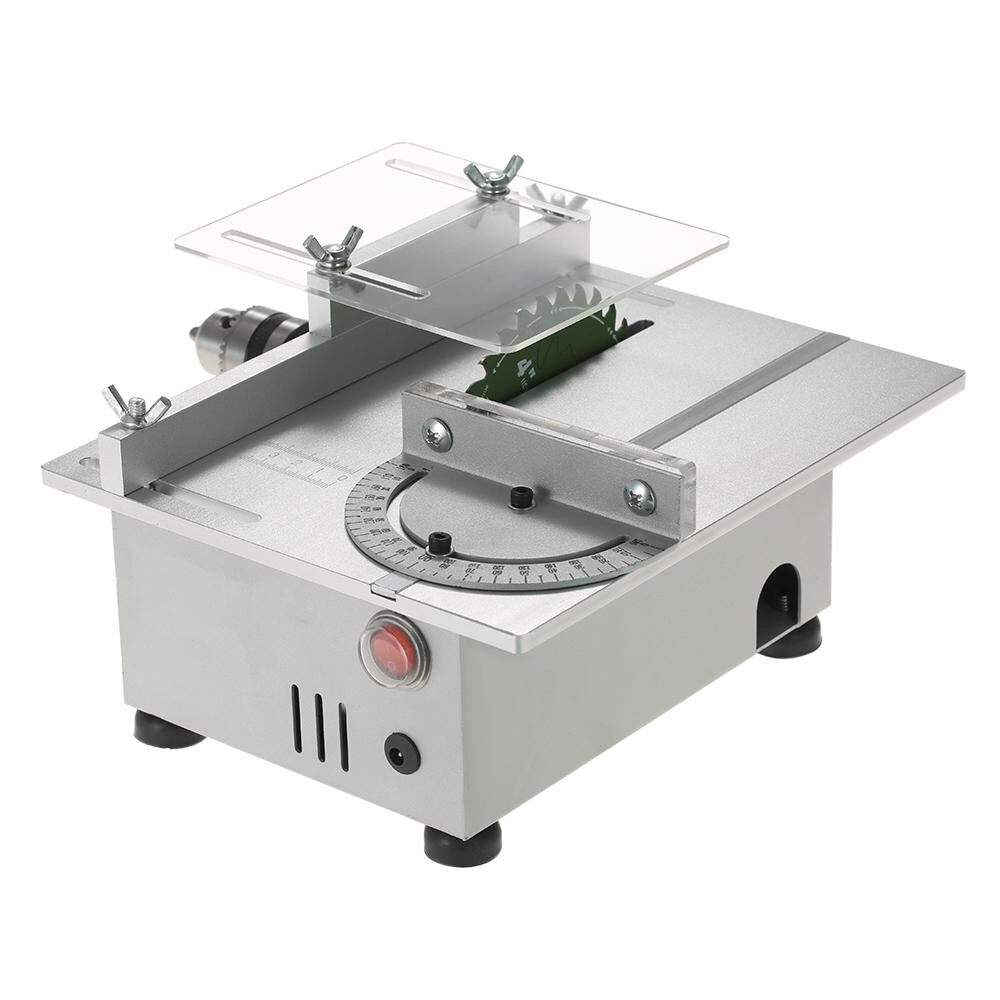 Fitur 100w Mini Table Saw Aluminum Miniature Diy Multi Function