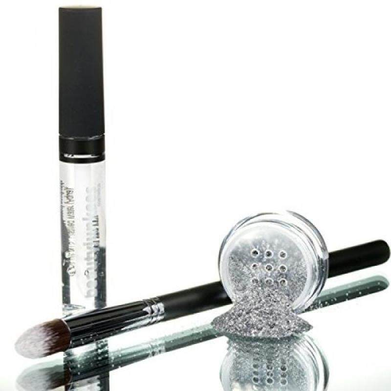 Buy Razzle Dazzle Silver Cosmetic Grade Loose Glitter Makeup Kit with Brush and Glue, Extra Fine, Safe for Eyes, Face, Skin, All Over Body, Paraben Free, Gluten Free, Cruelty Free, Made in USA - intl Singapore