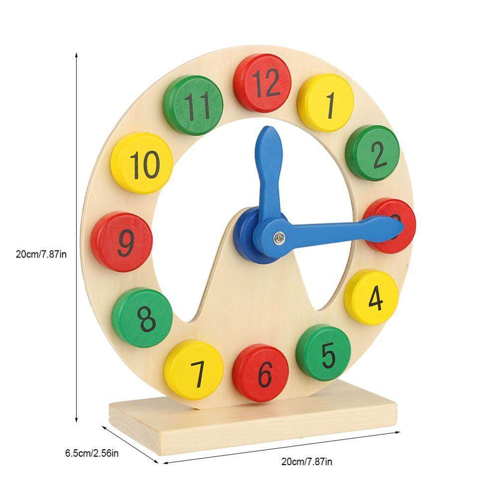 Baby Children Wooden Clock Toy Kids Number Time Early Learning Gift for Little .
