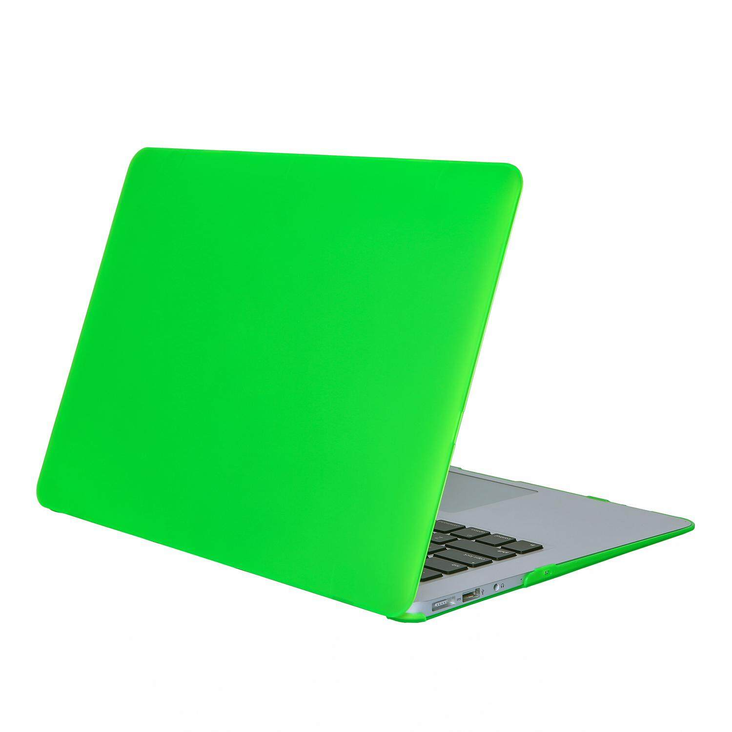 Clear Matte Rubberized Hard Case Cover for Macbook Air 13 inch Laptop Shell Green